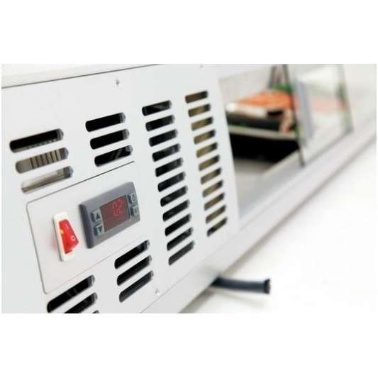 Bartscher Sushi-Vitrine 5 x 1/2 GN | Kühltechnik/Sushi & Tapas Vitrinen