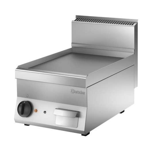 Bartscher Elektro-Grillplatte 650 Snack glatt 400x650
