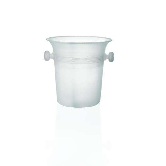 Weinkühler/ Sektkühler, eisfarben aus Polypropylen, Höhe 20,5 cm