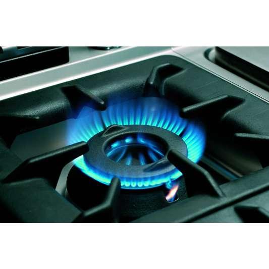 6 Flammen Gasherd 700 Classic mit offenem Unterbau