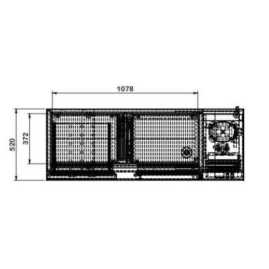 Barkühltisch PROFI 1/2 | Kühltechnik/Kühltische/Barkühltische