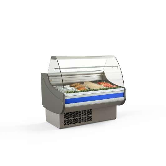 Fischkühltheke Profi 10x9 - gebogenes Frontglas