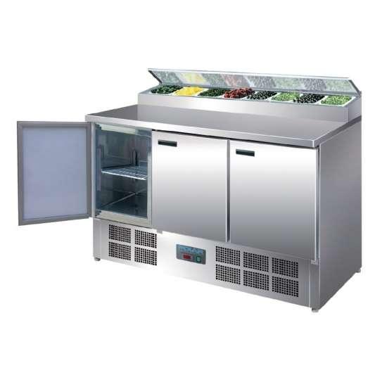Belegstation Polar 1370 für 8 x GN 1/4 | Kühltechnik/Kühltische/Belegstationen