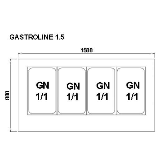 Kühltheke Gastroline 1500