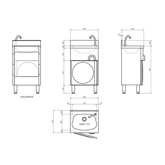 handwaschbecken mit unterschrank eco 8 online shop gastparo. Black Bedroom Furniture Sets. Home Design Ideas