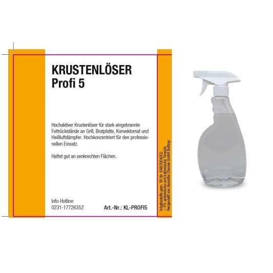 Krustenlöser Profi 5 Liter Kanister inkl. Abfüllhahn und 500 ml Leerflasche