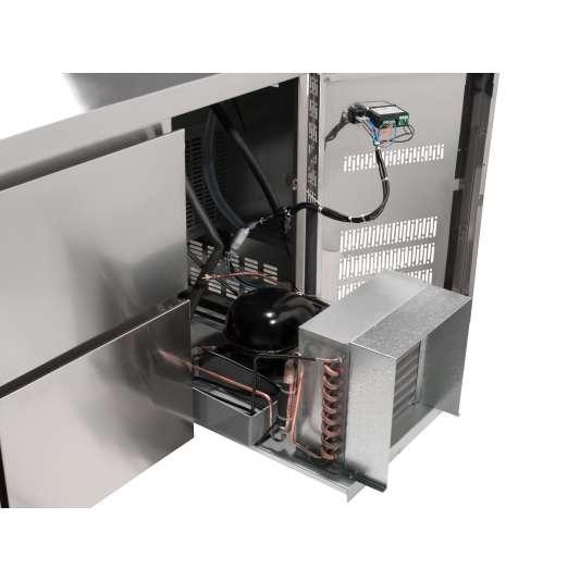 Kühltisch Profi 2/0 mit Aufkantung - GN 1/1