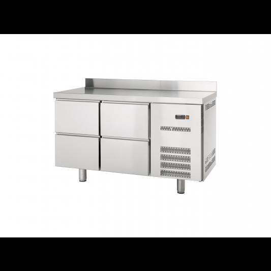 Kühltisch Profi 600 0/4 mit Aufkantung | Kühltechnik/Kühltische/Gastro-Kühltische/Gastro-Kühltische 600