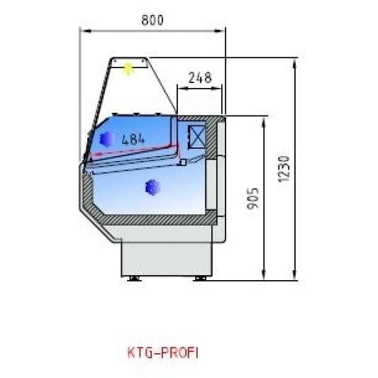 Kühltheke Profi 200 - gerades Frontglas