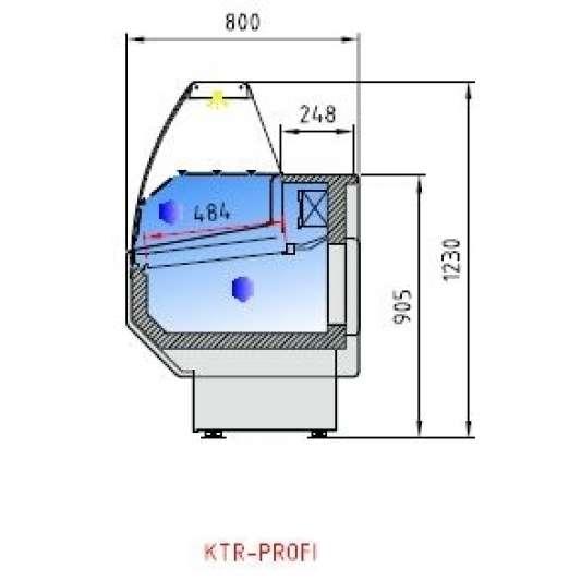 Kühltheke Profi 100 - rundes Frontglas
