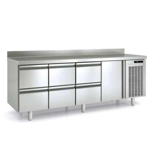 Tiefkühltisch Premium 1/6 mit Aufkantung | Kühltechnik/Kühltische/Tiefkühltische