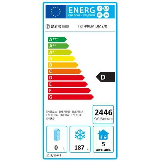 Tiefkühltisch Premium 2/0 mit Aufkantung | Kühltechnik/Kühltische/Tiefkühltische
