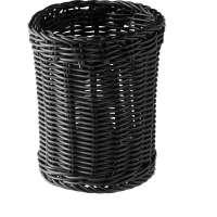 APS Besteckkorb -ECONOMIC- Vertikal, schwarz, Ø 12 cm, H: 15 cm