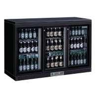 Barkühlschrank Polar 335 Liter mit 3 Schiebetüren schwarz