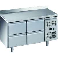 Kühltisch ECO 0/4 mit Aufkantung - GN 1/1