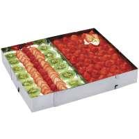 Tortenrahmen, rechteckig, Länge 27,5 - 52,5 cm, Breite 18,5 - 34cm
