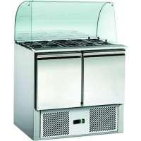 Saladette ECO 900 mit 2 Türen und Glasaufsatz | Kühltechnik/Saladetten
