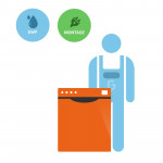 Montage- & Einwasch- Pauschale für die Geschirrspülmaschine PROFI 40 SL 230 V